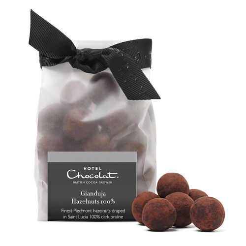 100% Dark Chocolate Gianduja Hazelnuts, , hi-res