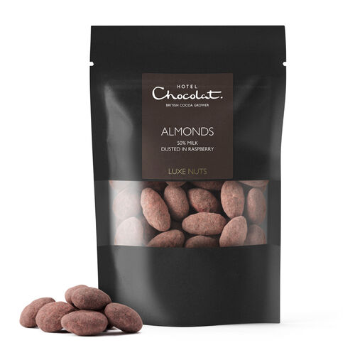 Luxe Nuts, Almonds, 50% milk, Raspberry, , hi-res