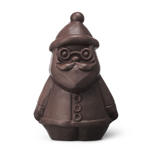 Jolly Dark Chocolate Santa, , hi-res