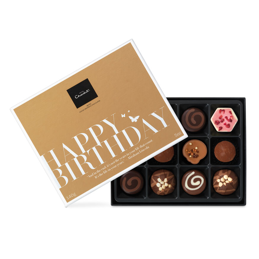 Chocolate birthday gifts by hotel chocolat happy birthday chocolate gift box hi res negle Choice Image