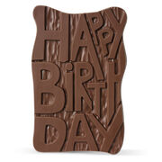 Happy Birthday Chocolate Grand Slab, , hi-res