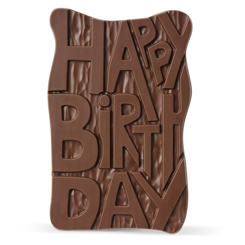 Happy Birthday Chocolate Slab, , hi-res