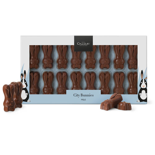 City Milk Chocolate Bunnies, , hi-res