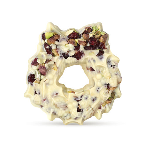 The Chocolate Christmas Wreath- White, , hi-res