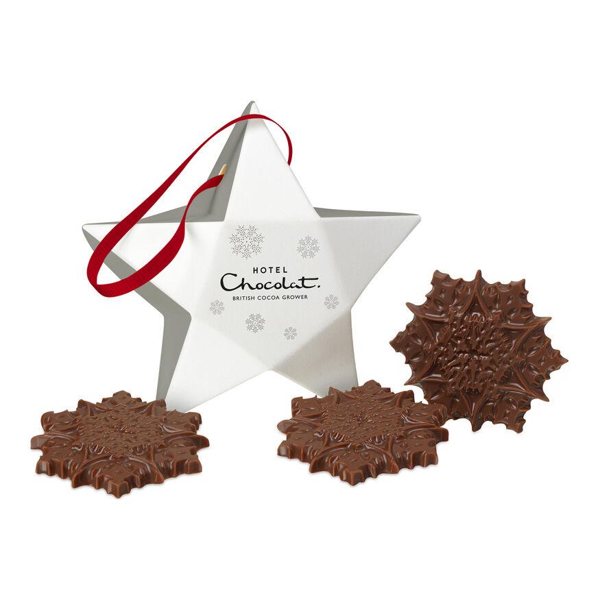 Silver christmas tree chocolate decoration for Chocolat decoration