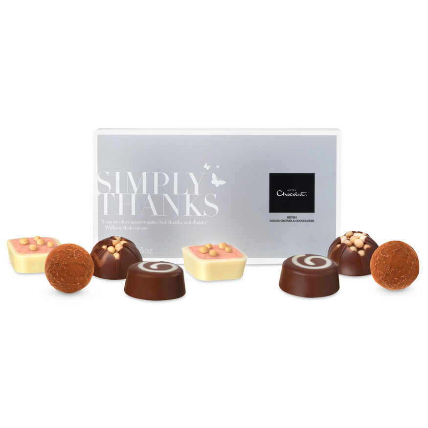 Thank you chocolates gift message box from hotel chocolat images negle Gallery