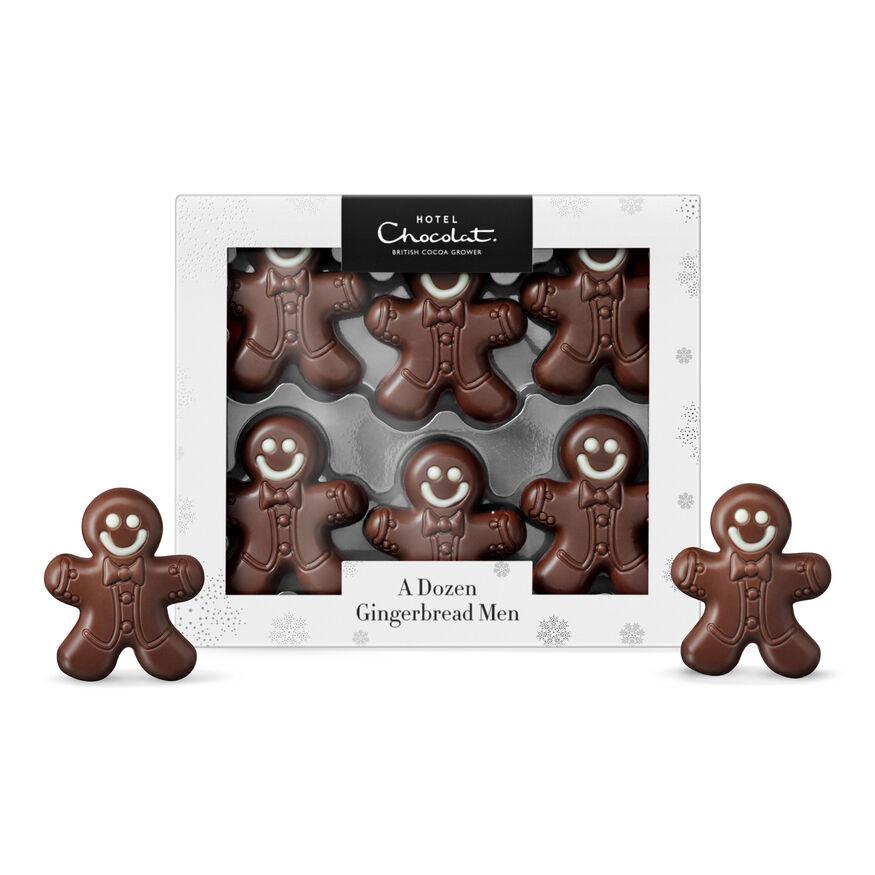 A Dozen Chocolate Gingerbread Men, , hi-res