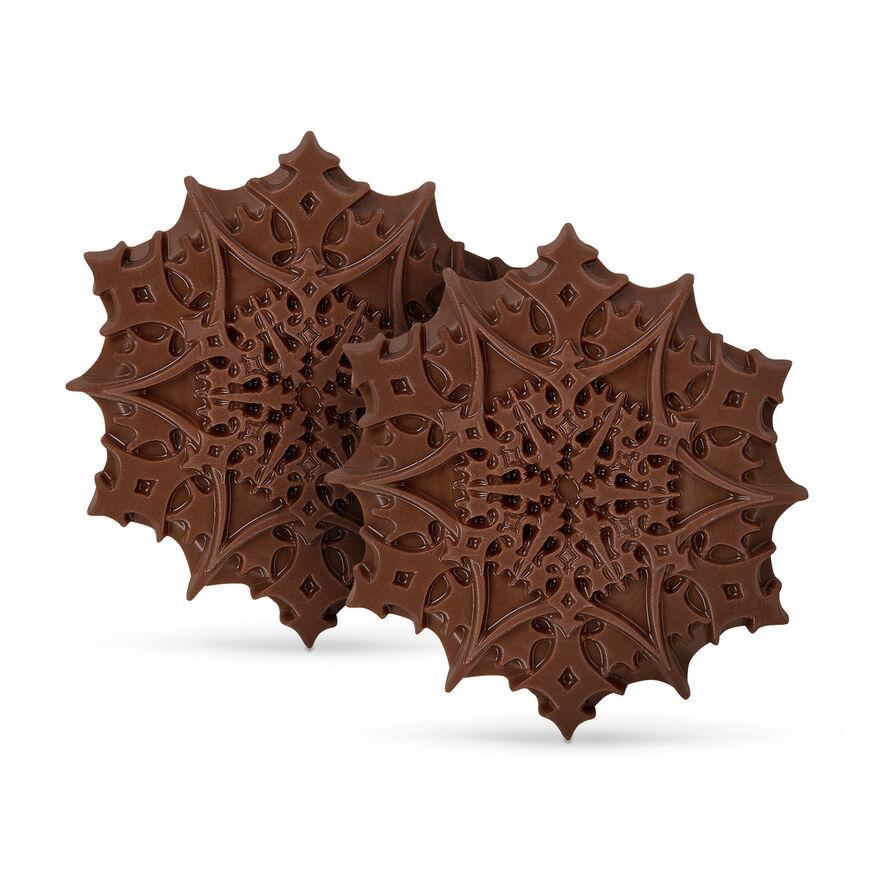 Christmas Chocolate Snowflakes – Milk, , hi-res