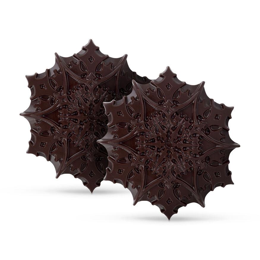 Christmas Chocolate Snowflakes – 85% Dark, , hi-res