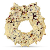 The Large Chocolate Christmas Wreath – White, , hi-res