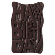 Dark Chocolate Birthday Slab, , hi-res