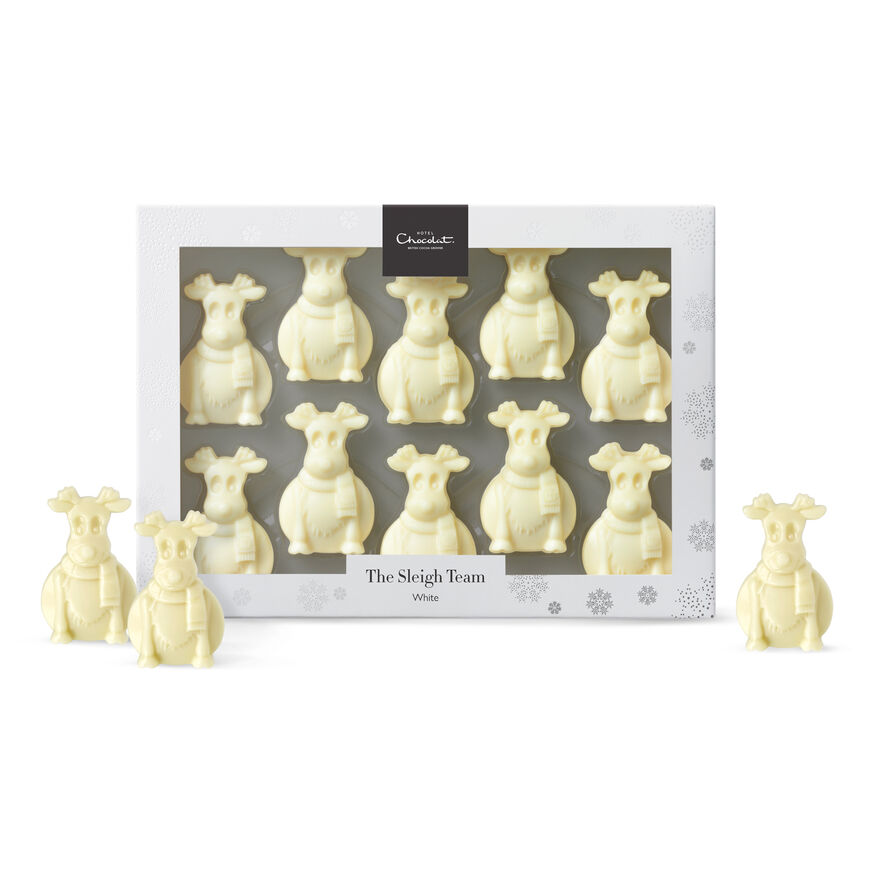 The Sleigh Team - White Chocolate Reindeers, , hi-res