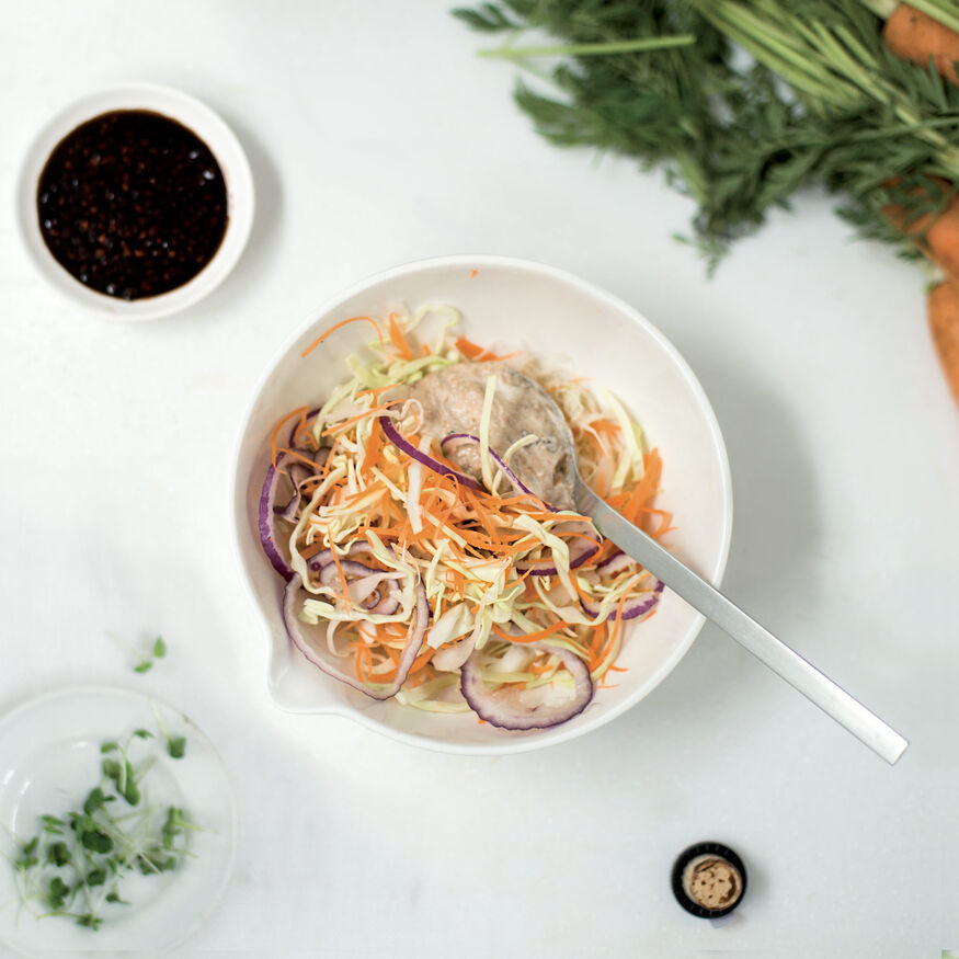 Carrot & cabbage horseradish slaw, , hi-res