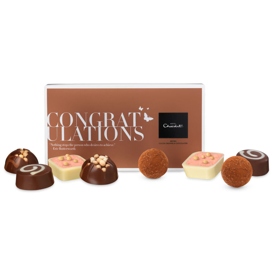 Congratulations chocolates gift message box from hotel chocolat images negle Gallery