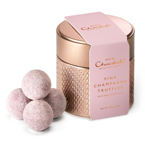 Pink Champagne Truffle Tin, , hi-res