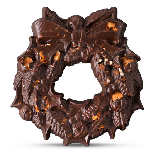 The Large Chocolate Wreath - Cookie, , hi-res
