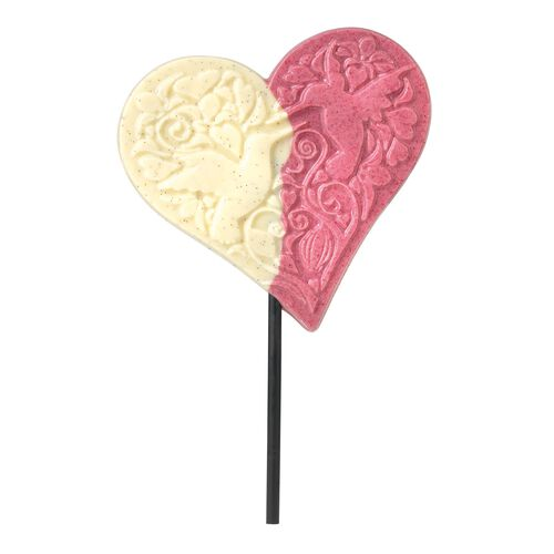 Raspberry-White Heart Lick, , hi-res