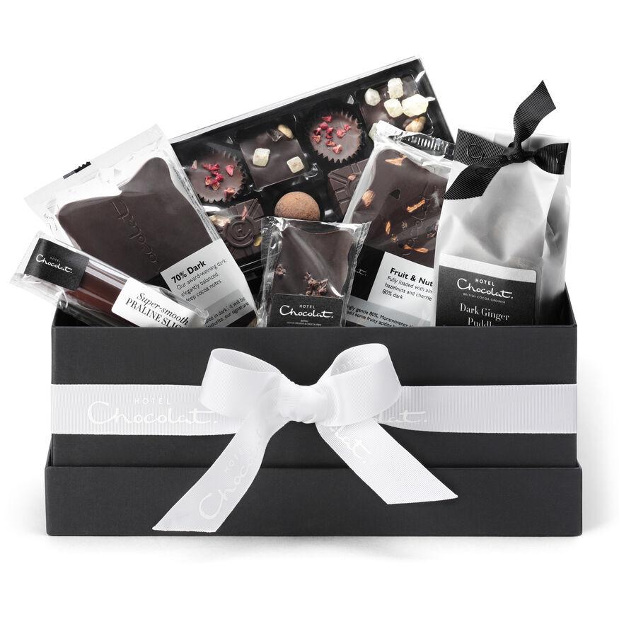 The All Dark Vegan Chocolate Hamper Collection, , hi-res