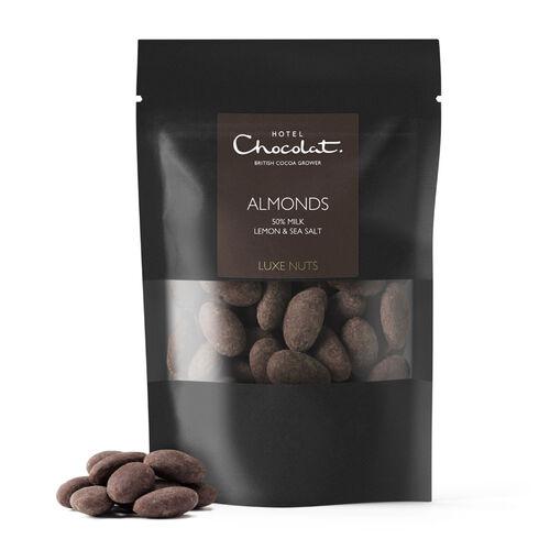 Milk Chocolate Covered Almonds, Lemon & Sea Salt, , hi-res
