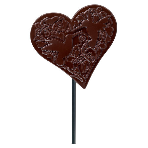 Dark Chocolate Heart Lolly, , hi-res