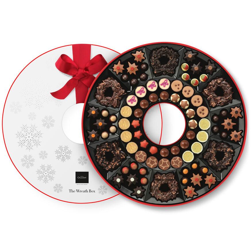 The Grand Chocolate Wreath Box, , hi-res