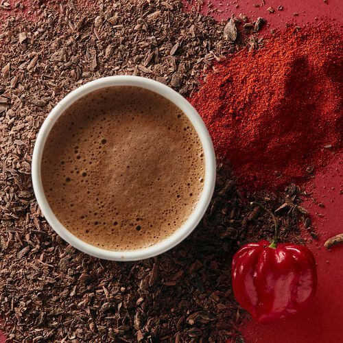 Chilli Dark Hot Chocolate Sachets, , hi-res