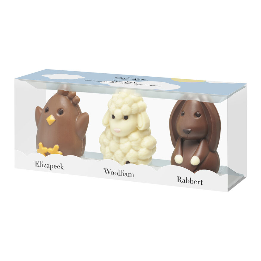 Chocolate Easter Animals | White, Caramel & Milk Chocolate