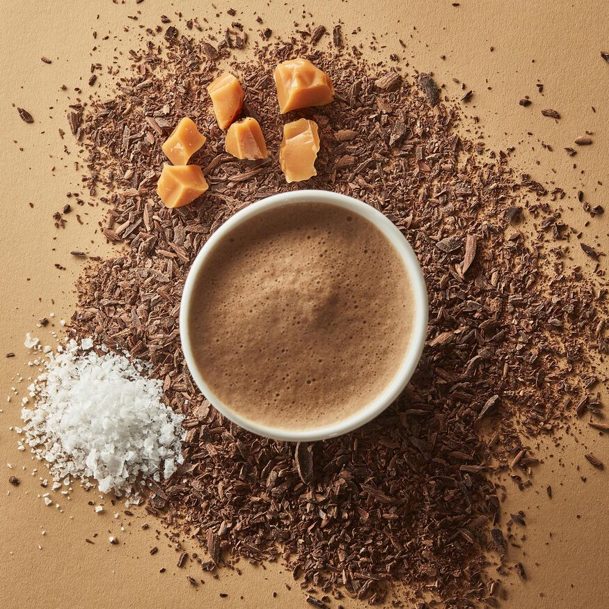 Salted Caramel Hot Chocolate – Single-Serves, , hi-res