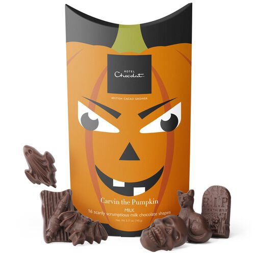 Carvin the Pumpkin   Milk Chocolate, , hi-res