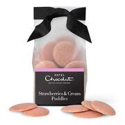 Strawberries & Cream Chocolate Puddles, , hi-res
