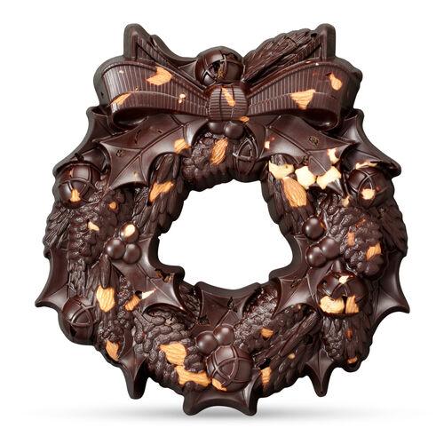 The Large Festive Wreath - Dark Chocolate, , hi-res