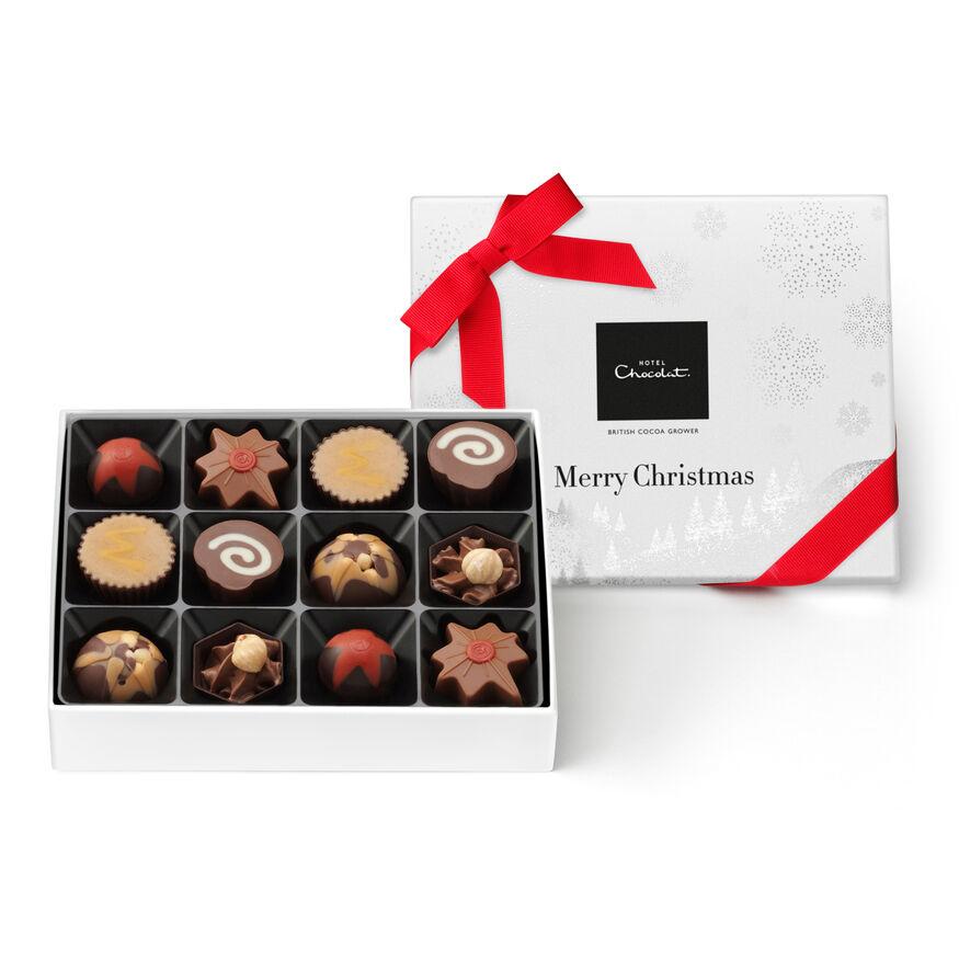 Merry Christmas Signature Chocolate Box, , hi-res