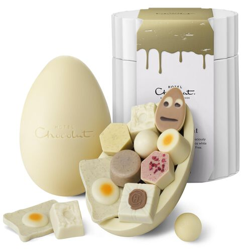 Extra Thick White Chocolate Easter Egg, , hi-res