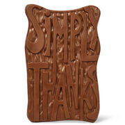 Simply Thanks Chocolate Grand Slab, , hi-res