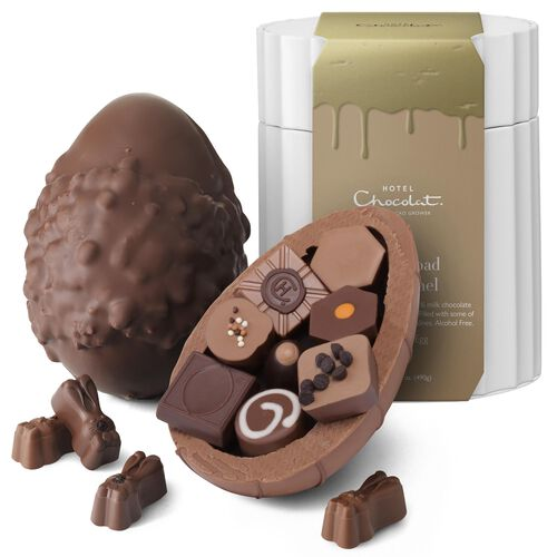 Extra Thick Rocky Road to Caramel Easter Egg , , hi-res