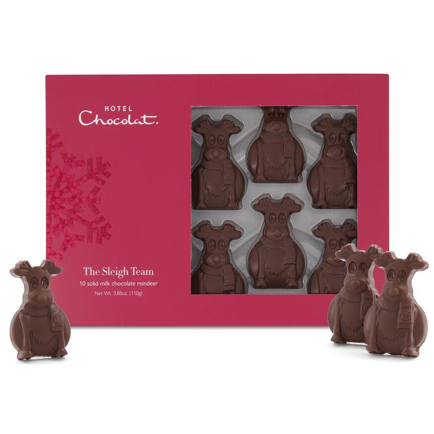 Sleigh Team – Milk Chocolate Reindeer, , hi-res