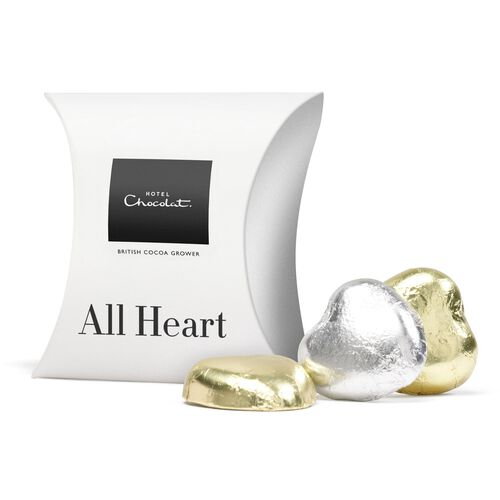 Chocolate Foiled Hearts, , hi-res