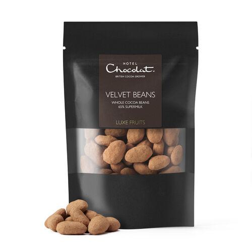 65% Supermilk Covered Velvet Cocoa Beans, , hi-res