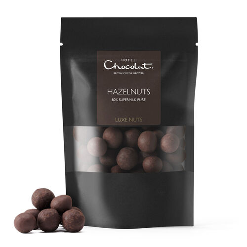 80% Supermilk Pure Chocolate Covered Hazelnuts, , hi-res