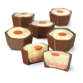 Custard & Rhubarb Chocolate Selector, , hi-res