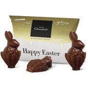 Three Solid Milk Chocolate Easter Bunnies, , hi-res