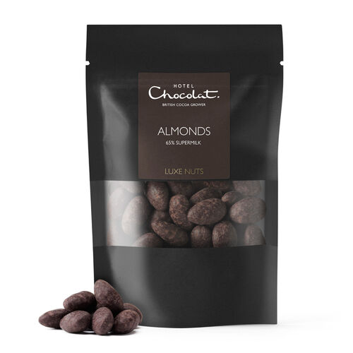 65% Supermilk Chocolate Covered Almonds, , hi-res