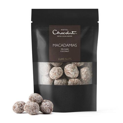 70% Dark Chocolate Covered Macadamia Nuts