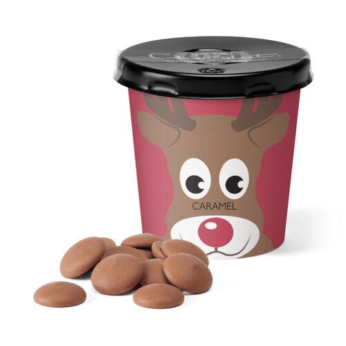 Reindeer Tiddly Pot – Caramel-milk Chocolate, , hi-res