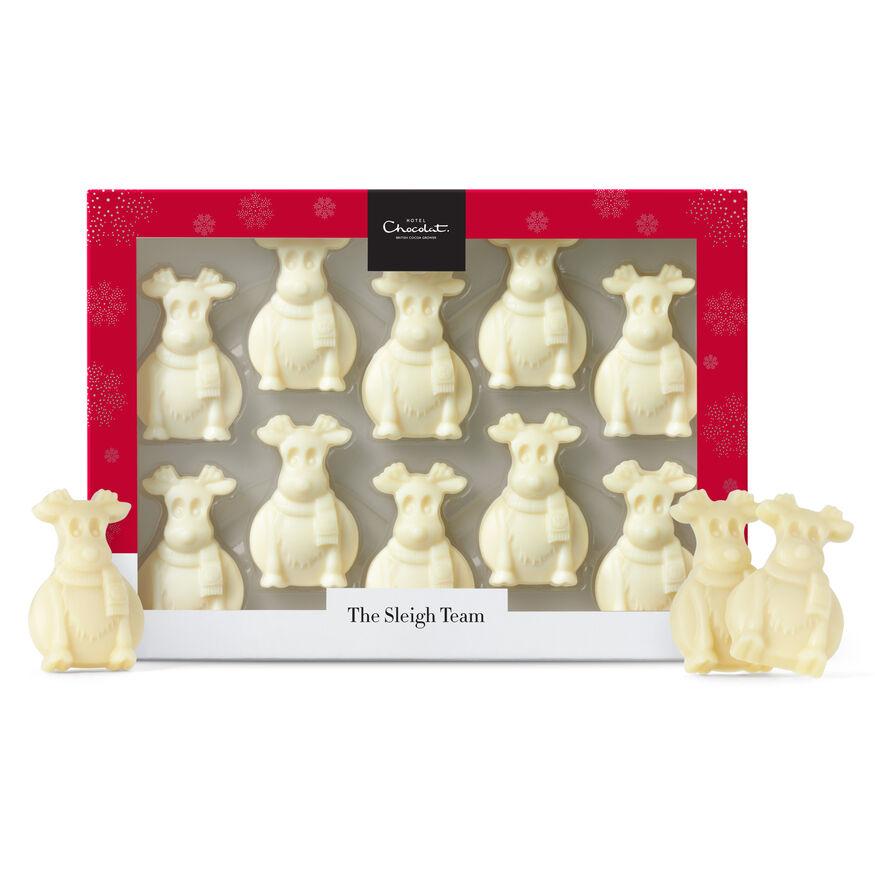 The Sleigh Team – White Chocolate Reindeer, , hi-res