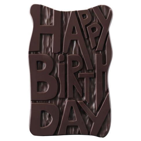 Dark Chocolate Birthday Slab, , hi-res