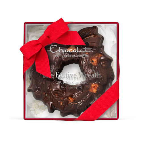 The Small Festive Chocolate Wreath - Cookie, , hi-res