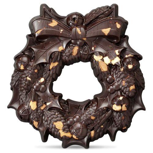 Large Festive Wreath - Dark Chocolate, , hi-res