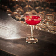Raspberry Bellini Cocktail Recipe, , hi-res