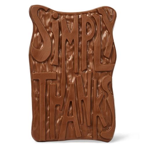 Simply Thanks Chocolate Grand Slab, , hi-res